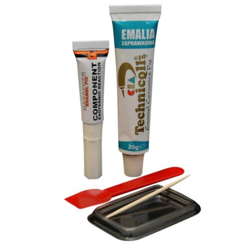 Emaille Reparatieset P-805 Wit 20g + 4g